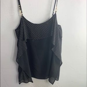 NWT Cache Black with Gold Accent Tank Top